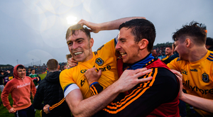 Andrew Glennon of Roscommon celebrates following the Connacht GAA Football Senior Championship Semi-Final match between Mayo and Roscommon at Elverys MacHale Park in Castlebar, Mayo. Photo by Stephen McCarthy/Sportsfile