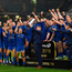 Leinster celebrate with the cup after the Guinness PRO14 Final match between Leinster and Glasgow Warriors at Celtic Park in Glasgow, Scotland. Photo by Brendan Moran/Sportsfile