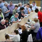 The election count taking place at Athlone IT. Pic Steve Humphreys 25th May 2019