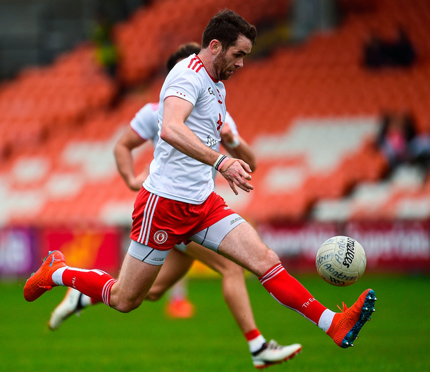 Ronan McNamee of Tyrone in action. Photo: Oliver McVeigh/Sportsfile