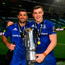 Rob Kearney and Garry Ringrose of Leinster after winning the Pro14