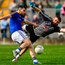 Mark Hughes of Longford beats the Kildare goalkeeper Mark Donnellan to score a goal in the 54th minute of the GAA Football Senior Championship Quarter-Final match at Bord na Mona O'Connor Park in Tullamore, Offaly. Photo by Ray McManus/Sportsfile