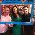 Matchmaker Mairead Loughman (centre) at the recent Farmer Wants A Wife dating and cancing event in Moate, Co Westmeath.
