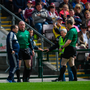 Wexford manager Davy Fitzgerald is sent to the stand by referee Johnny Murphy during the Leinster GAA Hurling Senior Championship Round 3A match between Galway and Wexford at Pearse Stadium in Galway. Photo by Stephen McCarthy/Sportsfile