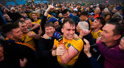 Enda Smith is mobbed by supporters. Photo by Stephen McCarthy/Sportsfile