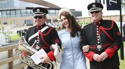 Winners all right: A military guard for Mairead Ronan at the opening of the new Curragh Racecourse. Photo: Conor McCabe Photography