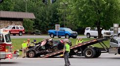 The scene of the crash in upstate New York PIC Brooke Kelly Selby.