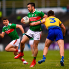 McLoughlin: Missed late free for Mayo. Photo by Stephen McCarthy/Sportsfile