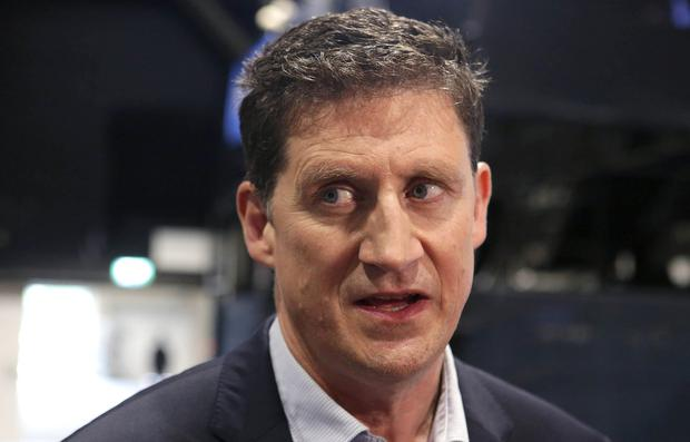 Stance on water charges: Green Party leader Eamon Ryan speaking at the count centre at the RDS. Photo: Damien Eagers/INM