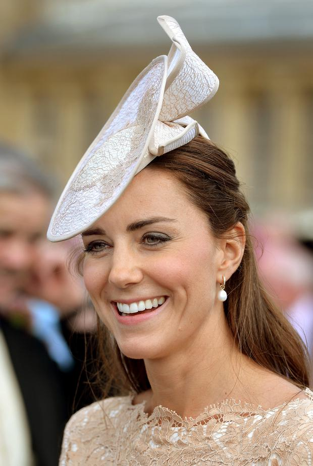 Catherine, Duchess of Cambridge attends a garden party held at Buckingham Palace on June 10, 2014 in London, England. (Photo by John Stillwell - WPA Pool / Getty Images)