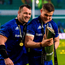 Cian Healy, left, and Garry Ringrose of Leinster with the cup