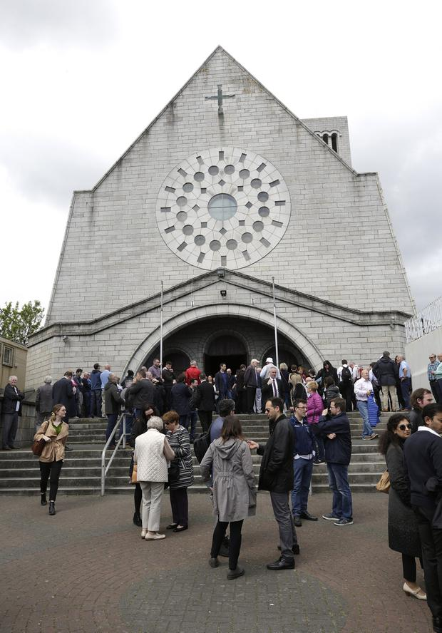 The memorial service in memory of Seamus Lawless who lost his life in an accident having climbed Mount Everest at the Holy Redeemer Church in Bray. Picture credit; Damien Eagers / INM