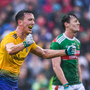Tadhg O'Rourke of Roscommon celebrates following the Connacht GAA Football Senior Championship Semi-Final match between Mayo and Roscommon at Elverys MacHale Park in Castlebar, Mayo. Photo by Stephen McCarthy/Sportsfile