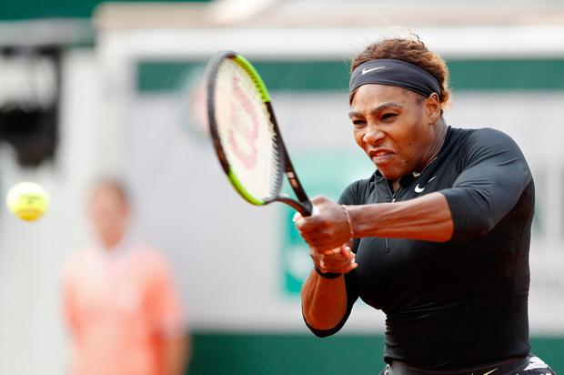 Tennis - French Open - Roland Garros, Paris, France - May 27, 2019. Serena Williams of the U.S. in action during her first round match against Russia's Vitalia Diatchenko. REUTERS/Vincent Kessler
