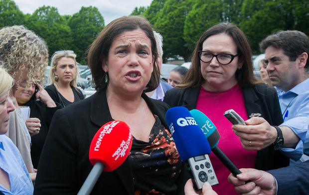 Sinn Féin leader Mary Lou McDonald TD arrives at the counts in the RDS. SF TDs, especially those based in Dublin, will be doing some soul searching in the aftermath of the local election drubbing the party received. Photo: Gareth Chaney, Collins