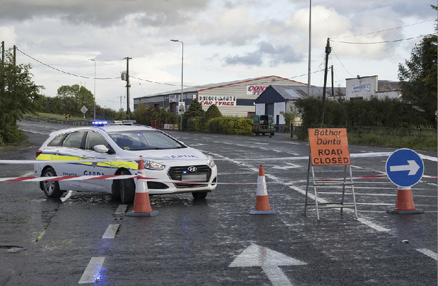 Gardai are investigating a fatal road traffic accident on the N80 outside Killeigh in Offaly Picture: Arthur Carron