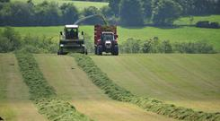 Collecting silage in Co Carlow. Photo: Roger Jones
