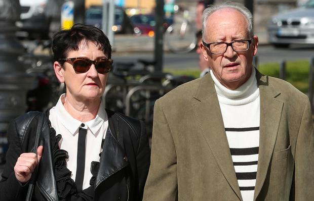 Trial: Patric and Geraldine Kriegel, parents of Ana Kriegel, at court yesterday. Photo: Collins Courts
