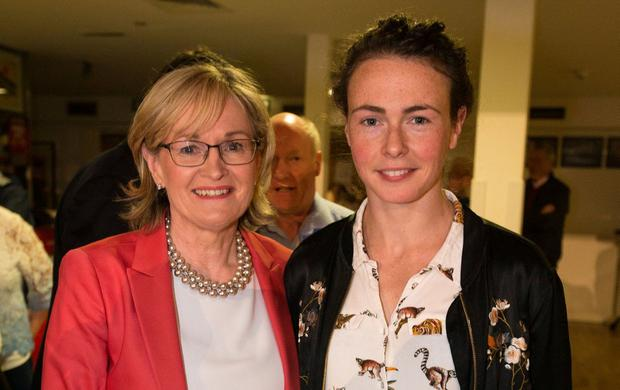 Winners and contenders: Mairead McGuinness and Saoirse McHugh at the Castlebar count centre. Photo: Mark Condren