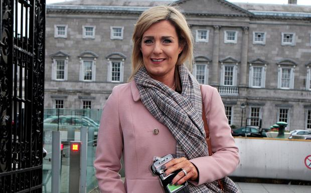 Maria Bailey TD pictured outside Leinster House. Photo: Tom Burke