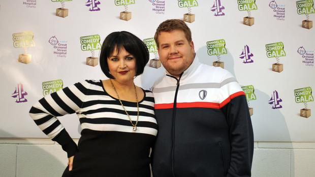 Ruth Jones and James Corden attend the Channel 4 Comedy Gala, in aid of Great Ormond Street Hospital, at the O2 Arena, London.