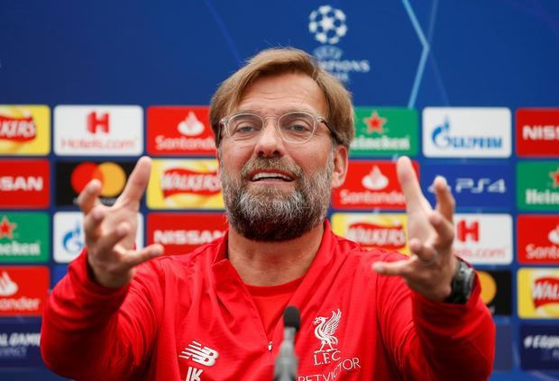 Liverpool manager Jurgen Klopp is pictured during a Champions League final press conference at Melwood. Photo: Reuters/Craig Brough