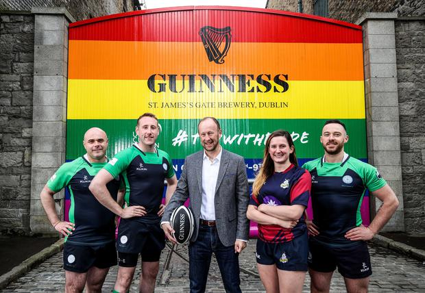 GUINNESS Gates Transformed To Support The 2019 Union Cup Dublin
