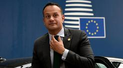 Taoiseach Leo Varadkar arrives ahead of a European Union leaders summit on May 28, 2019 to discuss who should run the EU executive for the next five years, in Brussels. Photo: John Thys/Pool via REUTERS