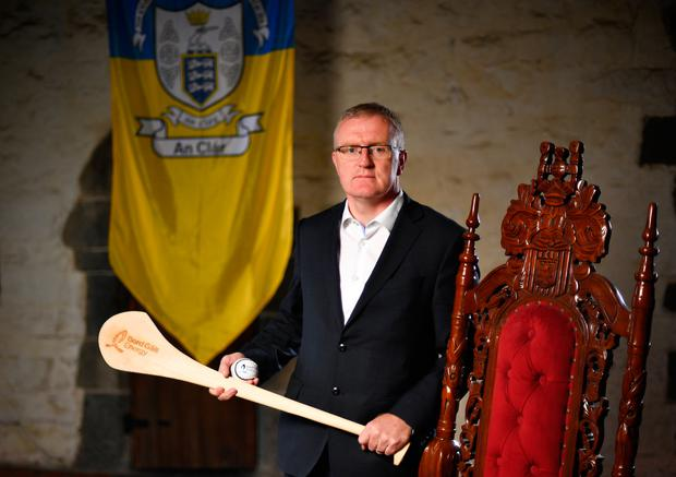 Brian Lohan at the launch of this year's Bord Gáis Energy GAA Legends Tour. Photo: Sportsfile
