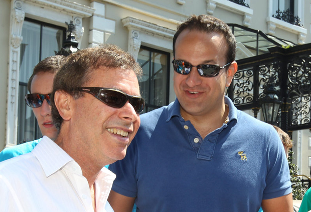 Former friends: In 2012, Alan Shatter and Leo Varadkar were political allies. Picture: Collins