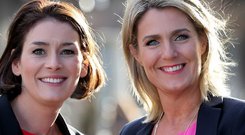 TD Kate O'Connell (left) has changed her Facebook cover photo featuring Maria Bailey