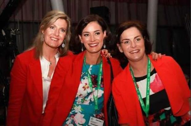 Fine Gael TD Kate O'Connell 'cover photo' was a picture of her with her sister Mary Newman-Julian (right) and her close friend Maria Bailey (left)