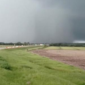 A tornado is seen in Eudora, Kansas, U.S. in this still from a video taken May 28, 2019 obtained from social media. KIM SCOTT /via REUTERS