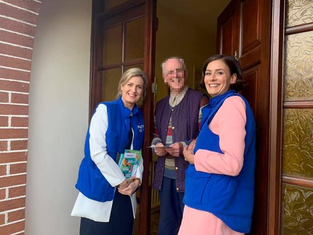 Maria Bailey (left) and Kate O'Connell (right) out canvassing together for the local elections. This image was posted to Ms Bailey's Facebook page on May 16th last Pic: Facebook