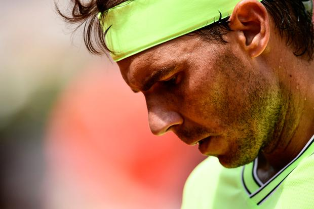 Spain's Rafael Nadal reacts during his men's singles second round match against Germany's Yannick Maden on day four of The Roland Garros 2019 French Open tennis tournament. (Photo by Philippe LOPEZ / AFP)PHILIPPE LOPEZ/AFP/Getty Images