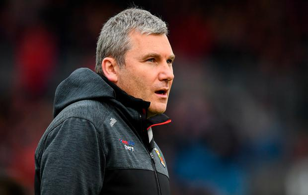 Mayo manager James Horan is pictured during the Connacht SFC semi-final defeat to Roscommon at Elverys MacHale Park in Castlebar last Saturday. Photo: Stephen McCarthy/Sportsfile
