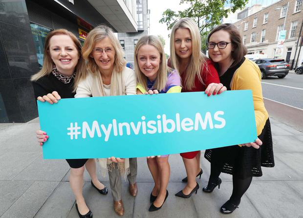 MS Day: Sharon Henvey, World MS Day spokesperson; Professor Orla Hardiman, Beaumont Hospital; Ava Battles, MS Ireland; AnneMarie Carrigan, Novartis; and Aoife Kirwan, MS Ireland. Photo: Robbie Reynolds