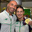 Katie Taylor (right) and Pete Taylor (left). Picture credit: Cody Glenn / SPORTSFILE