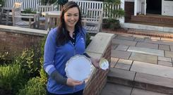 Thrilled: Castletroy's Chloe Ryan shows off the Critchley Trophy at Sunningdale.