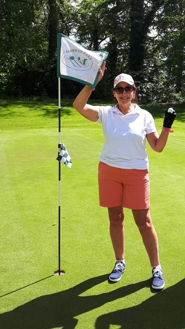 Aces high: Kathleen Butler after firing her second hole in one at Gowran Park.