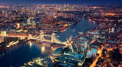 In the dark: The City of London is facing an anxious period as Brexit's true form is yet to coalesce