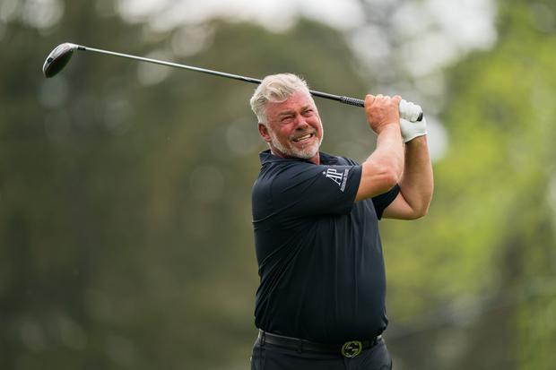 Darren Clarke will hit the first tee shot in Thursday's British Open first round at Royal Portrush. Photo: Darren Carroll/PGA of America