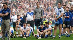 Waterford's players and backroom staff try to come to terms with their 2017 All-Ireland final defeat to Galway, a loss which started a worrying winless run in the championship. Photo: Piaras Ó Mídheach/Sportsfile