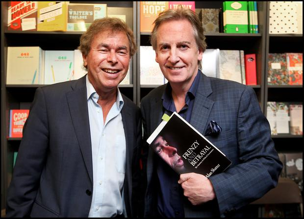 Launch: Alan Shatter and Paul Williams at the launch of 'Frenzy and Betrayal' at Hodges Figgis Book Shop in Dublin yesterday. Photo: Steve Humphreys