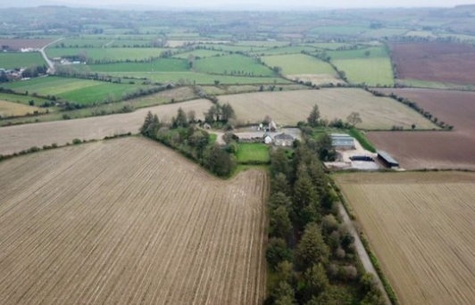 Work to do: The 2,475 sq ft two-storey farmhouse near Rathnure needs complete refurbishment