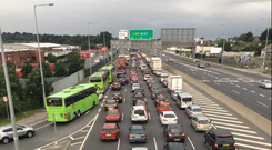 Traffic on the N7 outbound this evening Photo: Damien Eagers/INM
