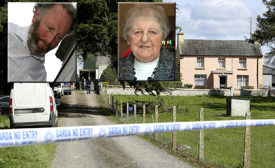 (Inset) Michael Scott has been charged with the murder of Chrissie Treacy, who was found dead at her farm in Portumna