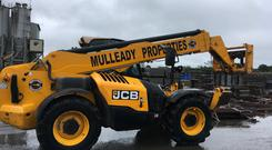 JCB stolen from Mulleady's in Co Longford was returned to their yard this morning after being recovered in Germany.