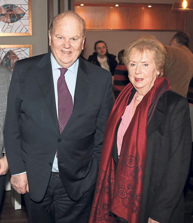 Family: Michael Noonan with his sister Mary. Photo: Press 22