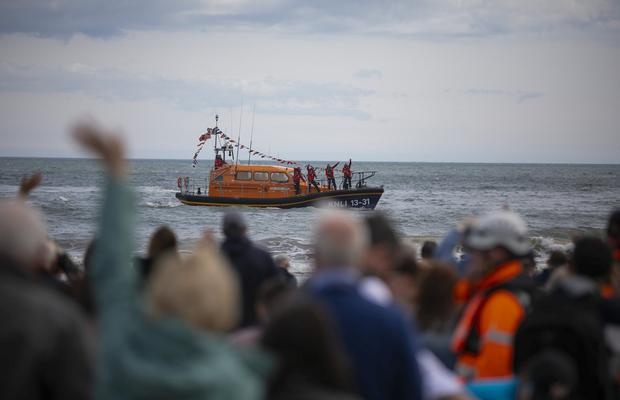 The RNLI's latest lifeboat arrives at Clogherhead, County Louth Picture: Patrick Browne.
